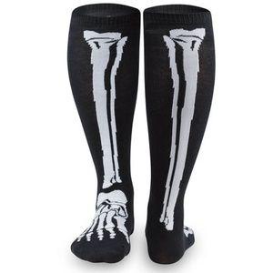 Black Knee High Skeleton Socks
